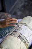 Lace making — Stock Photo