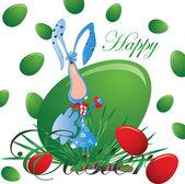 Conejo de Pascua — Vector de stock