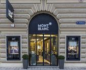 Montblanc shop — Stock Photo