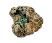 Malachite and azurite minerals — Foto Stock