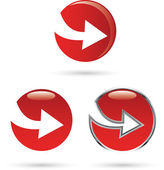 Red arrow icon — Stock Vector