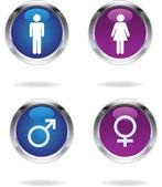 мужские и женские знаки — Cтоковый вектор
