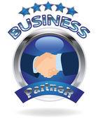бизнес-партнер — Cтоковый вектор