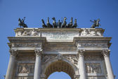 Porta Sempione in Milan, Italy — Stock Photo