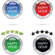 happy hour-pictogram — Stockvector
