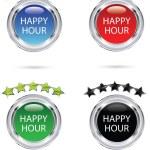 icône de l'happy hour — Vecteur