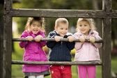 Kids playing at playground — Stock Photo
