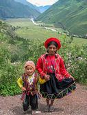 Children at Mirador Taray near Pisac in Peru — Foto Stock