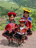 Children at Mirador Taray near Pisac in Peru — Stockfoto