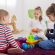 Kids playing in the room — Stock Photo #45987595