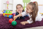 Little girls in the room — Stockfoto