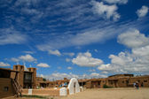 San Geronimo Chapel in Taos Pueblo, USA — Stockfoto