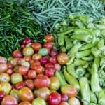 Fresh vegetables on the market — Stock Photo