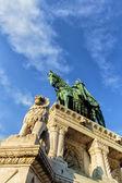 スティーブンの像は漁夫の砦、ブダペストでハンガリーの — ストック写真
