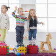 Kids playing in the room — Stock Photo #47297133