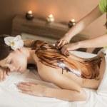Hot chocolate massage — Stock Photo #47809923
