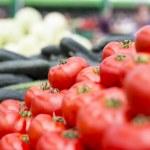 Fresh vegetables on the market — Stock Photo #48389299