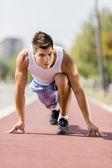 Athletics man — Stock Photo