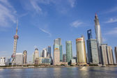 Lujiazui district in Shanghai, China — Stock Photo