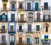 Windows from Sicily — Stock fotografie