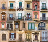 Windows from Sicily — Stockfoto