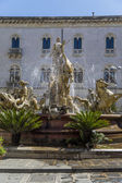 Diana Fountain on Piazza Archimede in Syracuse, Italy — Stock Photo