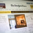i new york times-webbplats — Stockfoto #49480745