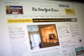 The New York Times web site — Foto Stock