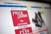Sports Direct web site — Stock Photo