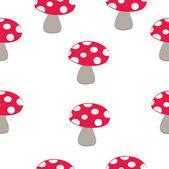 Mushroom pattern — Stock Vector