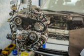 Car engine in the service — Stock Photo