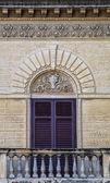 Old siclian window — 图库照片