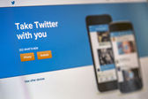 Twitter web page — Stock Photo