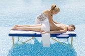 Woman having a massage — Stock Photo