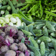 Close up detail view at the fresh vegetables on the market — Stock Photo #51590761