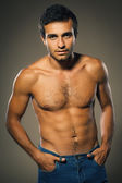 Young muscular male shirtless — Stock Photo