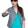 Young female with 3d glasses — Stock Photo #27264517