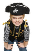 Little girl wearing pirate costume — Stock Photo