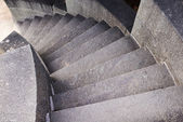 Rounded stone staircase — Stock Photo