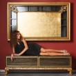 Fashion models posing in glamorous interior — Stock Photo #38239871
