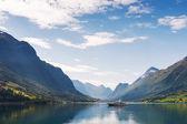 Yacht on Nordfjord — ストック写真