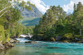 Mountain river, Norway — Stock Photo