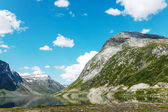 Lake on the top of mountains, Norway — Stock Photo
