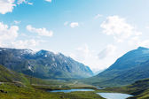 Lakes on the top of mountains, Norway — Stock Photo