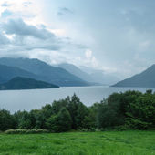 Fjord in a hazy weather, Norway — Stock Photo