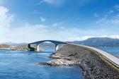 Atlantic road in norvegia — Foto Stock