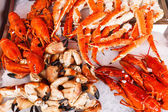 Seafood in Bergen fish market — Foto Stock