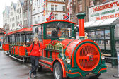 Road sightseeing train in Bergen — Foto Stock