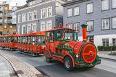 Road sightseeing train in Bergen — Stock Photo