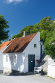 Traditional white wooden house in Norway — Stock Photo